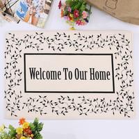 Doormat New Real 2015 Home Decoration Zakka Welcome Non-slip Mats Flannel Bathroom Kitchen Door Mat Carpet 40x60cm free Shipping