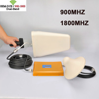 DHL Free Shipping High Power LED Dual Band GSM+DCS 900/1800MHZ Mobile Phone Signal Booster /DCS+GSM Signal Repeater/ Amplifier