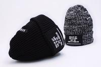 new 2014 knitted brand letter beanie women knitting winter hat bonnet turban hats for girls cap men touca gorro woman toque