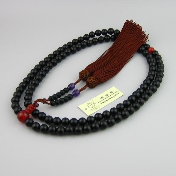 Japanese juzu nenju prayer beads zen buddhist mala XXL size Material ebony & amethyst DHL Free Shipping(China (Mainland))