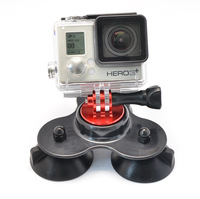 Gopro Removable Car Suction Cup Gopro Camera Accessories + CNC Aluminum Adapter Mount +Screw For Gopro Hero 3+/3/2/1