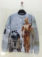 Autumn hoodies couple fashion novelty 3D Gold armor Robotics printed men 3d sweatshirts hot sale sweater drop shipping