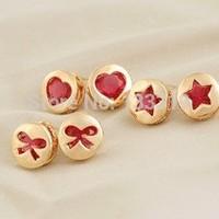 Wholesale jewelry earrings Phnom Penh stars love bow earrings earrings  Free shipping