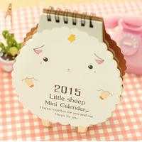 2015 Sheep calendar lovely shape small desktop calendar  free shipping