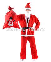 Santa Claus Costume Christmas Clothes Adult clothes Backpack Father Christmas Suit X'mas Clothes
