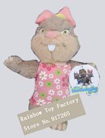 Free shipping neco toy Cartoon animation Kostebekgiller squirrel Plush toy squirrel Plush toy for kids gift