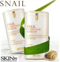 Snail Nutrition BB Cream Blemish Balm Sunscreen SPF45PA Concealer Moisture Whitenning Anti Wrinkle Skin Care Face BB Cream 40g