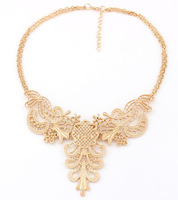 Hot-Selling New European Vintage Style Exquisite Luxurious palace lady embossed metal necklaces for women Jewelry MD1146