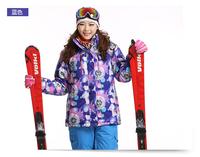 Dropshipping Women Ski Suit Professional Ski Jacket  Windproof waterproof thermal Women professional monoboard skiing clothing