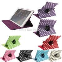 Free shippingJX Wave point 360 Rotating Smart Stand PU Leather Case Cover for Apple iPad air ipad 5 ipad 2 ipad 3 ipad 4