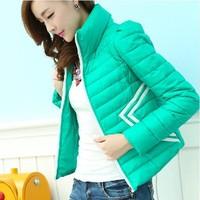 New 2014 Winter Fashion Slim Korean women were thin cotton jacket coat large size high quality short down jacket DF-205
