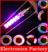 2PCS Colorful Cycling Bicycle Bike Motor Motorcycle Car Tyre Tire Wheel Valve Cap Spoke Neon 5 LED Flash Light  Sense Lamp