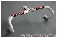 fast ship!NESS carbon fiber road bicycle cycling handlebar carbon bike parts drop handle bars and Stem integrative 400/420/440mm