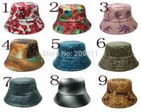 hip hop leopard print flat fishing hat for women outdoor flower camouflage men Bucket sun  Hats