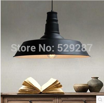 industrial House Decoration Vintage Style indoor black cap lampshade pendant lamp light E27 loft pendants(China (Mainland))