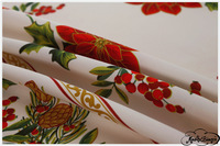 Free shipping-BAS-009-European polyester plain Christmas printed flowers red long table restaurant cafe  tablecloth