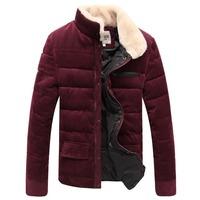 New 2014 Fashion Brand Winter Coat men Slim Thin Casual Man Jacket coat M L XL XXL XXXL Army Green Blue Outwear For men
