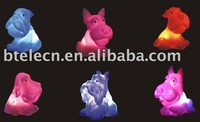 Colorful dogs toy,night light,tea light,novelty gift,decoration light up dogs,seven colors dog ,lively dogs
