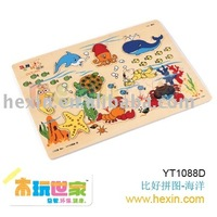 """<BENHO/HIGH QUALITY WOODEN TOY>""""Ocean"""" Puzzle (wood puzzle,fruit puzzle,baby puzzle )"""