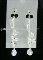 Fashion earrings/alloy with shell  earrings/pearl pendant earring/imitation jewelry/costume jewelry