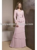 pink lace evening dress