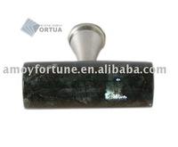 drawer knob granite knob with metal and Emerald pearl