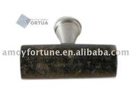 drawer knob granite knob with metal and Verde Ubatuba