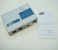 Free shipping, NETWORK USB CABLE LAN TESTER RJ11 RJ45 CAT5E  UTP  Cat 5