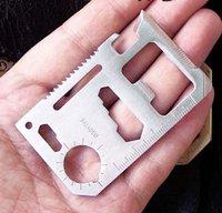 (Free Shipping)TL-003 Multipurpose Pocket Survival Tool  Mini Multi-function Tool Card
