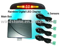 With Switch!Rainbow LED Display Car Parking Sensor System Car Parking Assistant System(RD037C4)