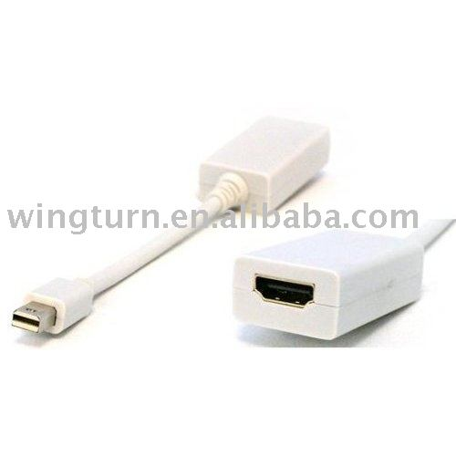 Free shipping, Mini Display Port to HDMI Cable(China (Mainland))