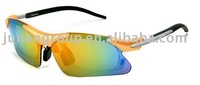 sports sunglasses with stylish eyebrow set design