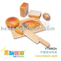 <BENHO/HIGH QUALITY>wooden educational toy-Try to Cutting Set for Breakfast (pre-school educational toys,wooden toys, role play)