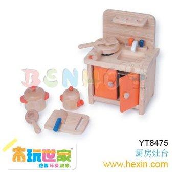 <BENHO/HIGH QUALITY WOODEN TOY>Kitchen Hearth toy ( craft and gift, wooden toy,wooden gift )