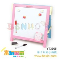 "Wooden toy <BENHO/HIGH QUALITY WOODEN TOY>""chalk & marker blackboard (chalk board,blackboard,board) Educational toy"