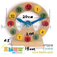 "Wooden toy <BENHO/HIGH QUALITY WOODEN TOY>""clock (wooden clock,wooden toy,educational toy) Educational toy"