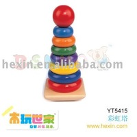 "Wooden toy <BENHO/HIGH QUALITY WOODEN TOY>""Rainbow stacker ( educational toy,stacker stacker toys ) Educational toy"
