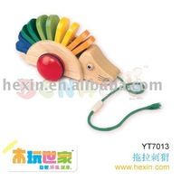 <BENHO/HIGH QUALITY WOODEN TOY>wooden educational toys-Pulling Along Hedgehog -(Wooden Toy,push-along toy,Hedgehog toy )