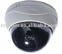 CCTV Color Plastic Dome CCD Camera Option CS 6mm Lens