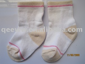 white cotton kids socks