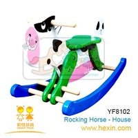 <BENHO/HIGH QUALITY WOODEN TOY>Medium rocking horse-Cow