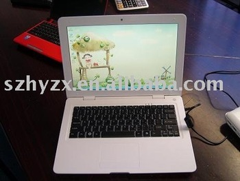 13.3''inch Laptop with good quality,computer,notebook,free freight,White,Retali and wholesale
