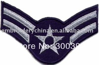Wholesales 50pcs/lot embroidered shoulder badges for garment accessories M003