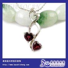 Wholesale Fashion Jewelry,Fashion Pendant,925 Silver Garnet Pendant(z050511ags)(China (Mainland))