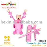 <BENHO/HIGH QUALITY -Doudou Bear Pen Case ( pen case,wooden gift box,pen box)