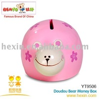 <BENHO/HIGH QUALITY WOODEN TOY>Wooden toys-Doudou Bear Money box(wooden products,wooden gift,wooden money box)