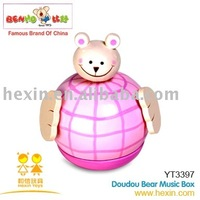 <BENHO/HIGH QUALITY WOODEN TOY>Doudou Bear Music Box (music box, music toys, musical gift)