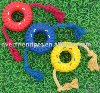 Pet Rope Tire Dog chew toys