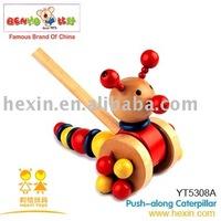 Push-along Caterpillar ( push-along toys, caterpillar toys,wooden caterpillar )