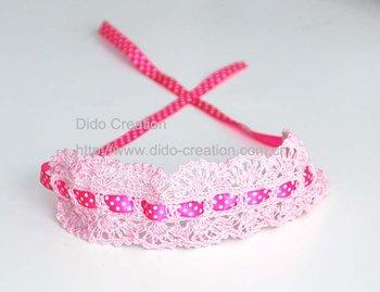"Handmade fashion crochet cotton headband (2"")"